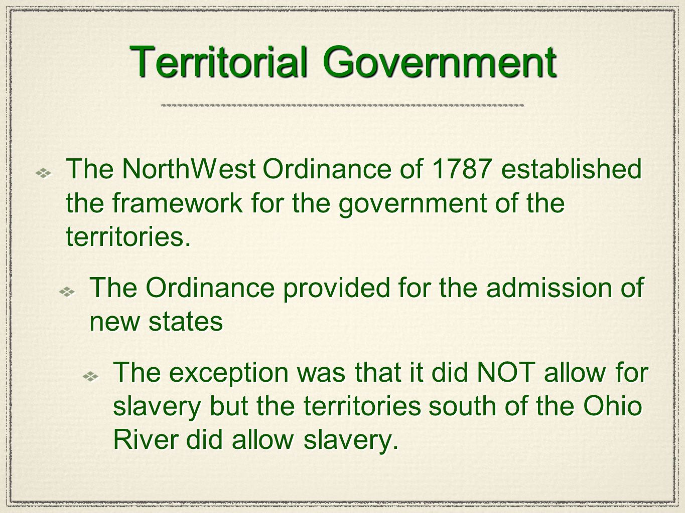 Territorial Government