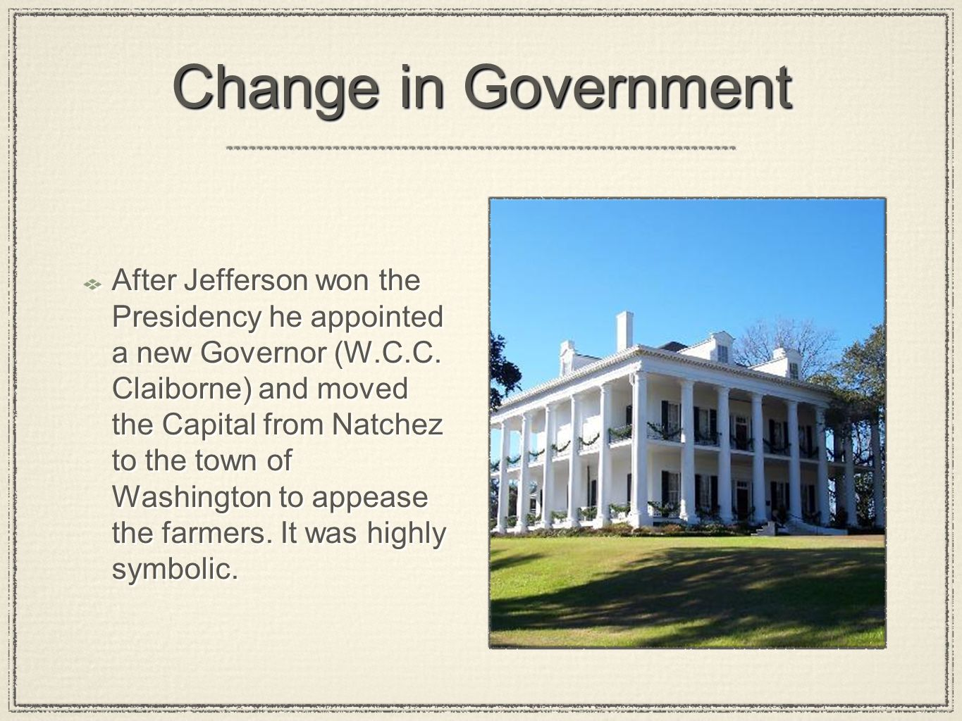 Change in Government