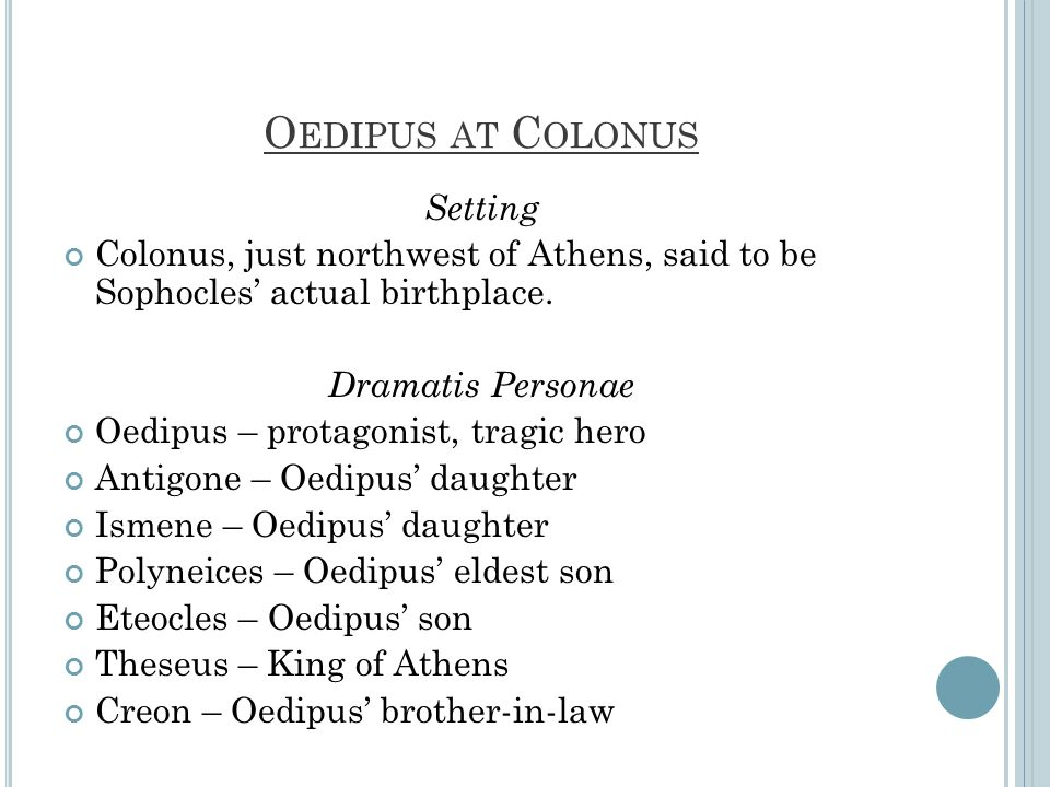 Oedipus at Colonus Setting
