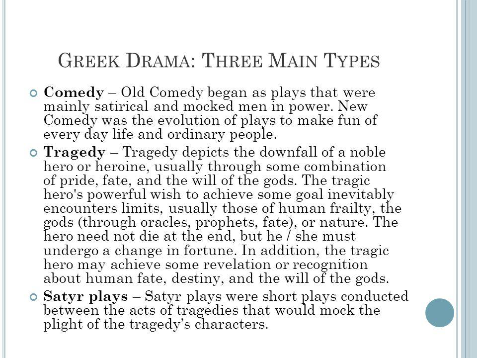 Greek Drama: Three Main Types