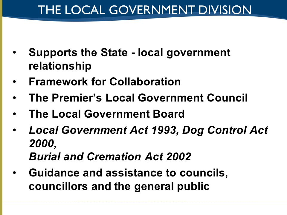 The local government division