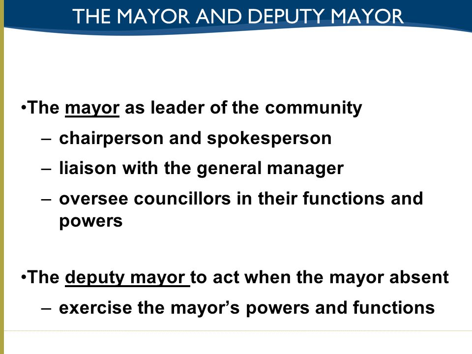 the mayor and deputy mayor