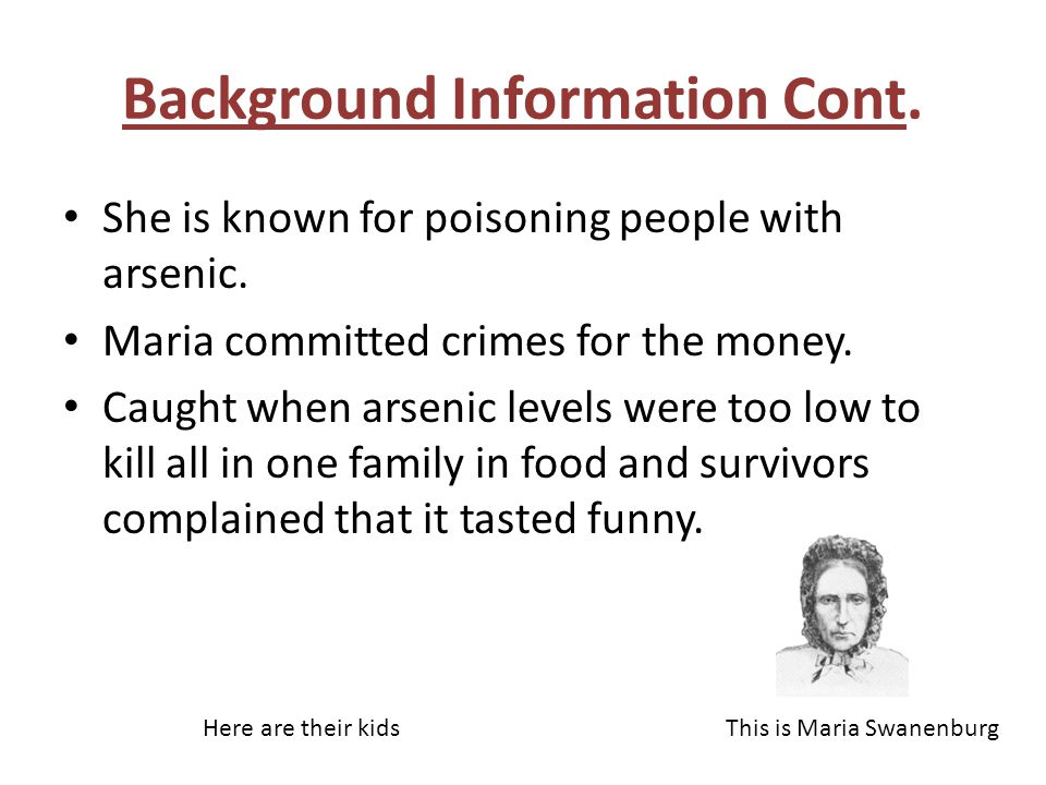 Background Information Cont.