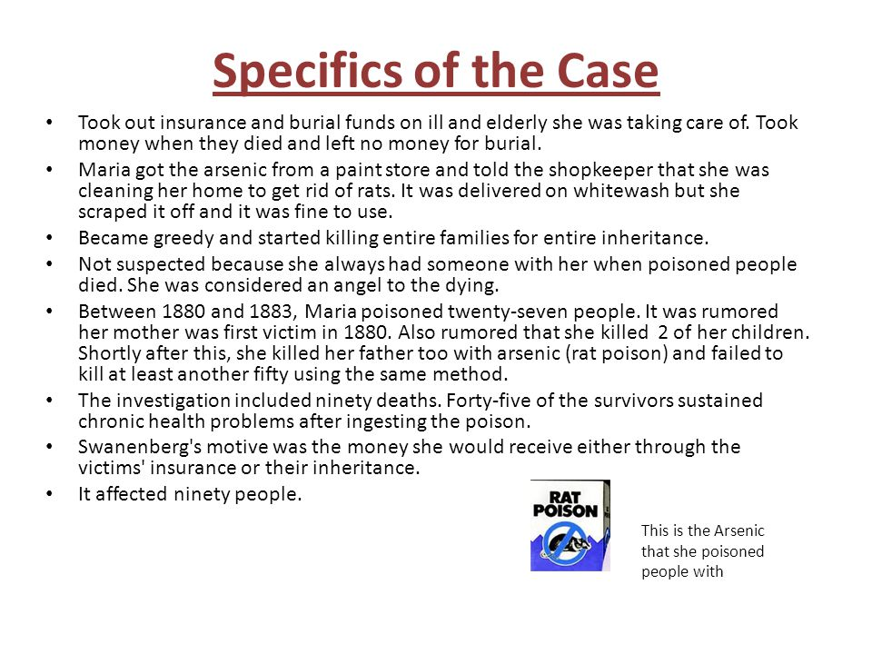 Specifics of the Case