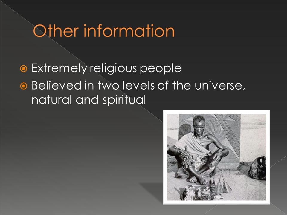 Other information Extremely religious people