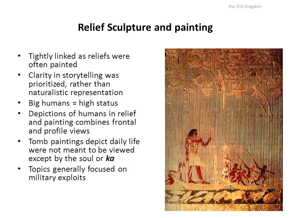 Relief Sculpture and painting