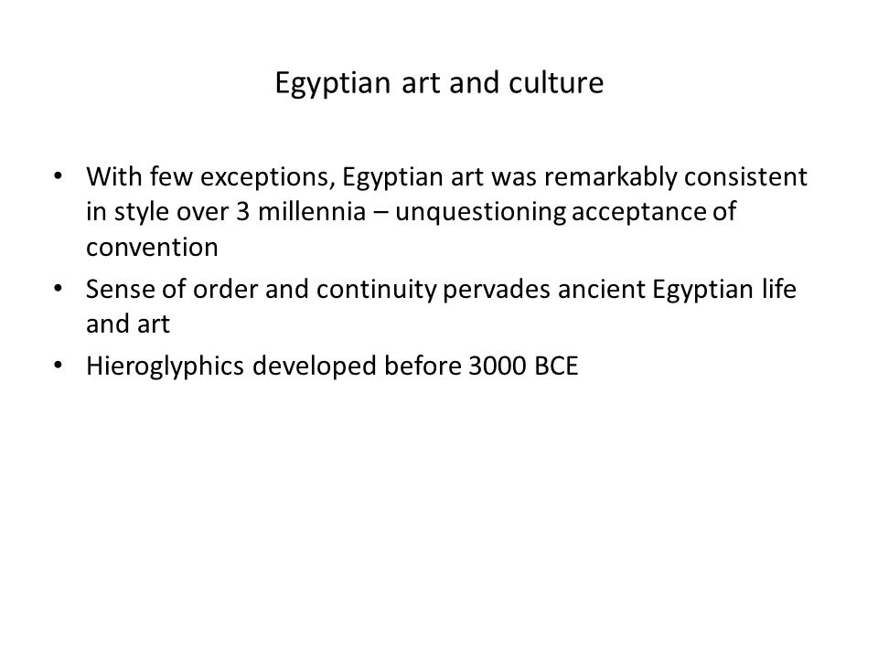 Egyptian art and culture