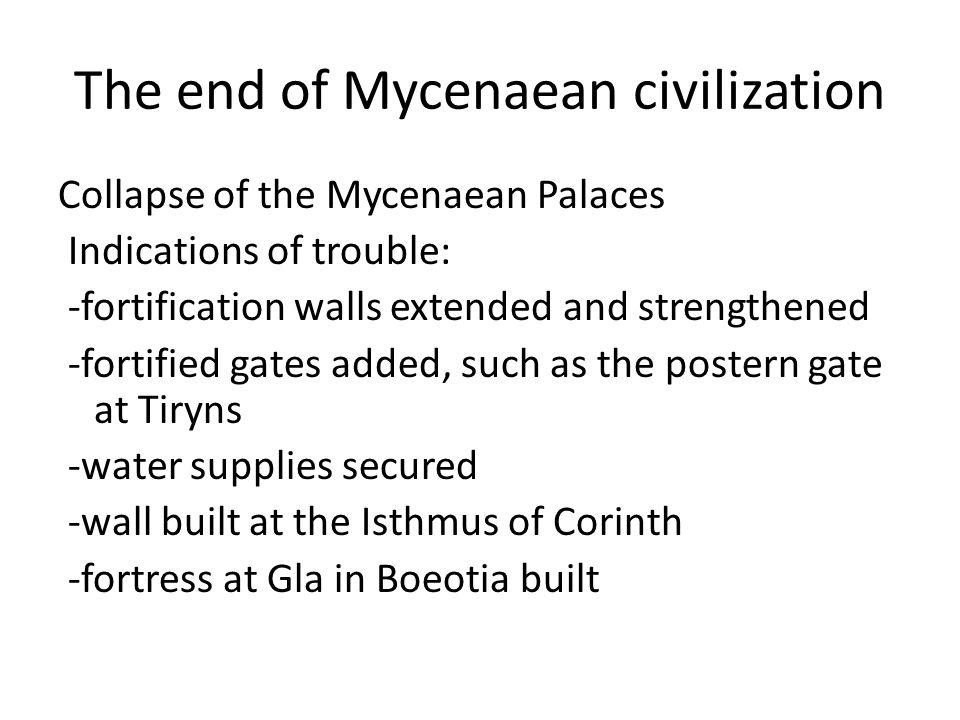 The end of Mycenaean civilization