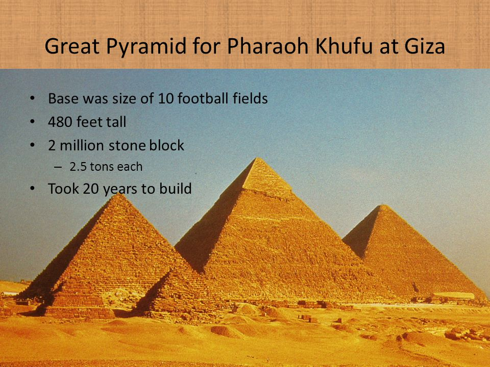 Great Pyramid for Pharaoh Khufu at Giza