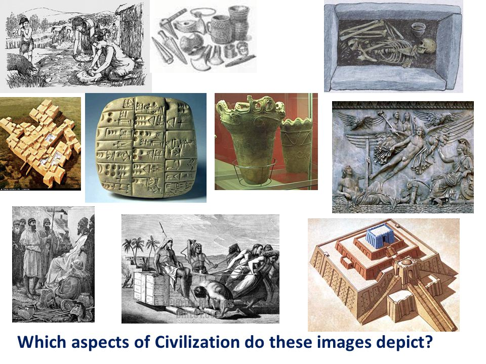 Which aspects of Civilization do these images depict