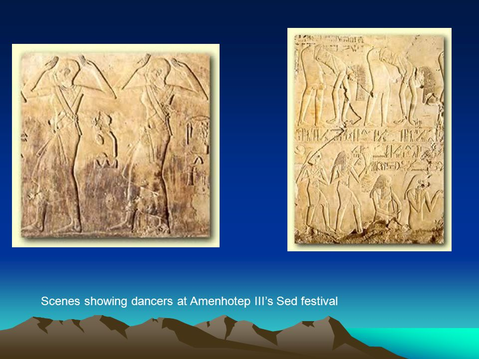 Scenes showing dancers at Amenhotep III's Sed festival