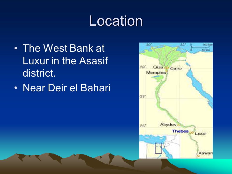 Location The West Bank at Luxur in the Asasif district.