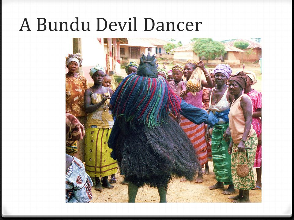 A Bundu Devil Dancer