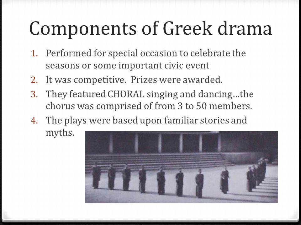 Components of Greek drama