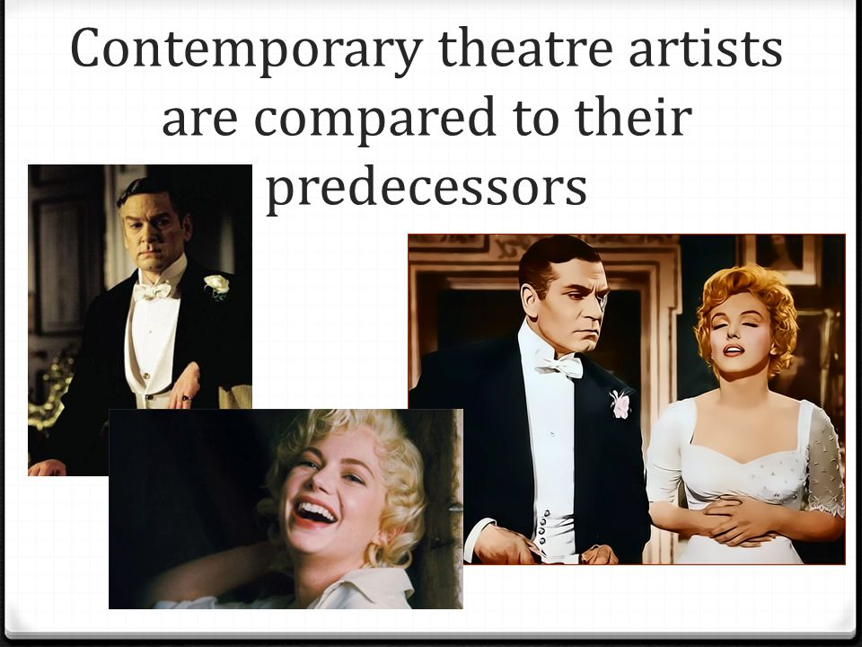 Contemporary theatre artists are compared to their predecessors