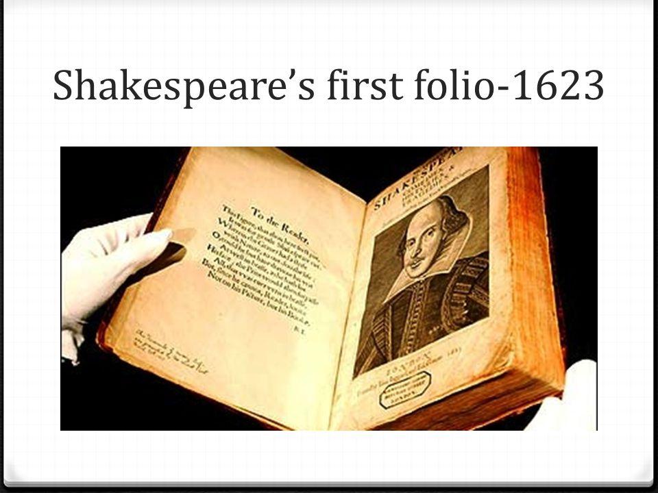 Shakespeare's first folio-1623