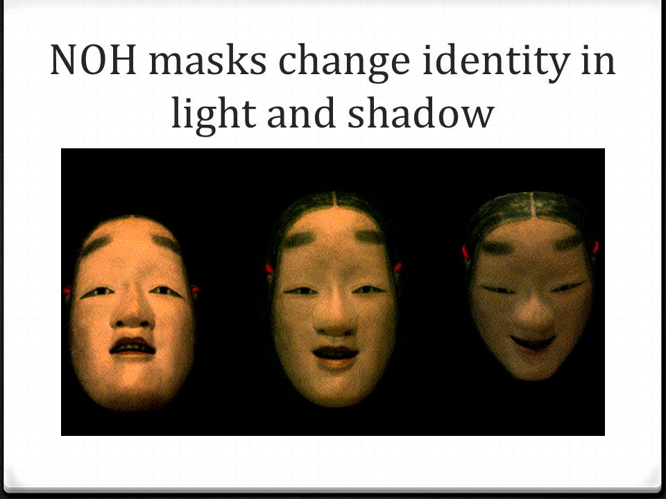 NOH masks change identity in light and shadow