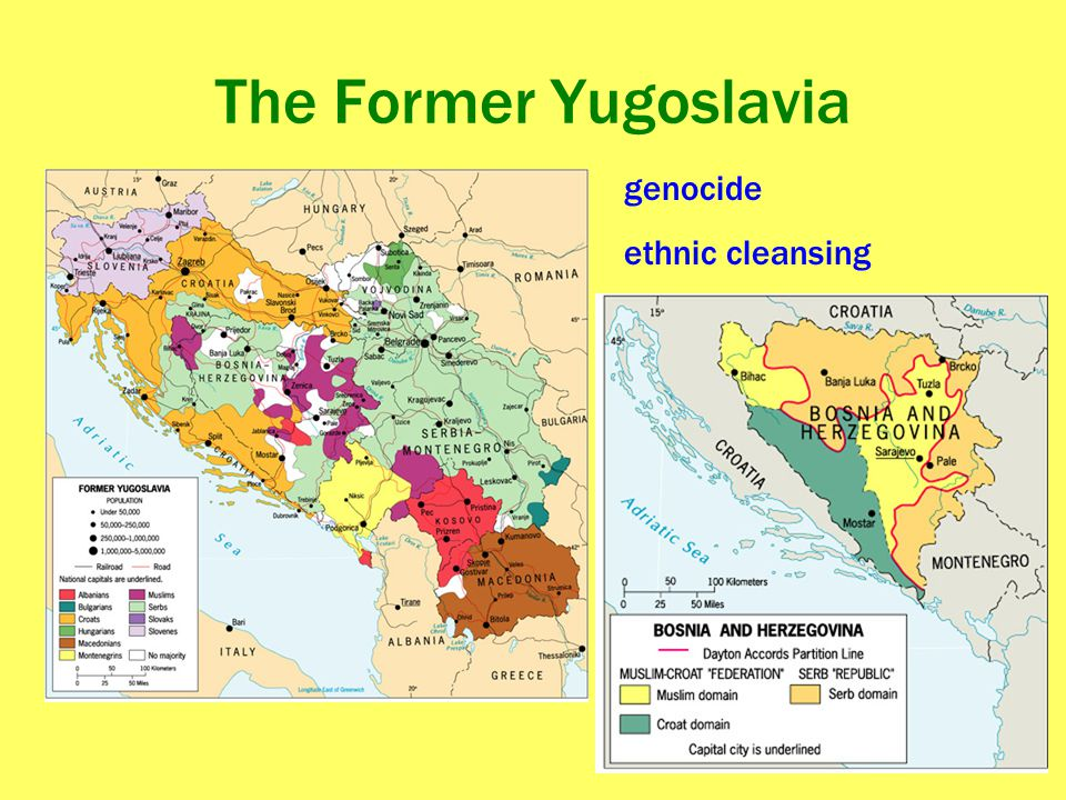 The Former Yugoslavia genocide ethnic cleansing