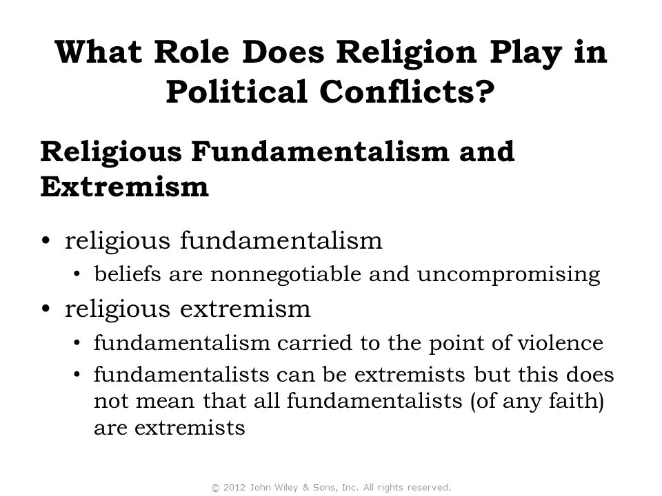 Religious Fundamentalism and Extremism