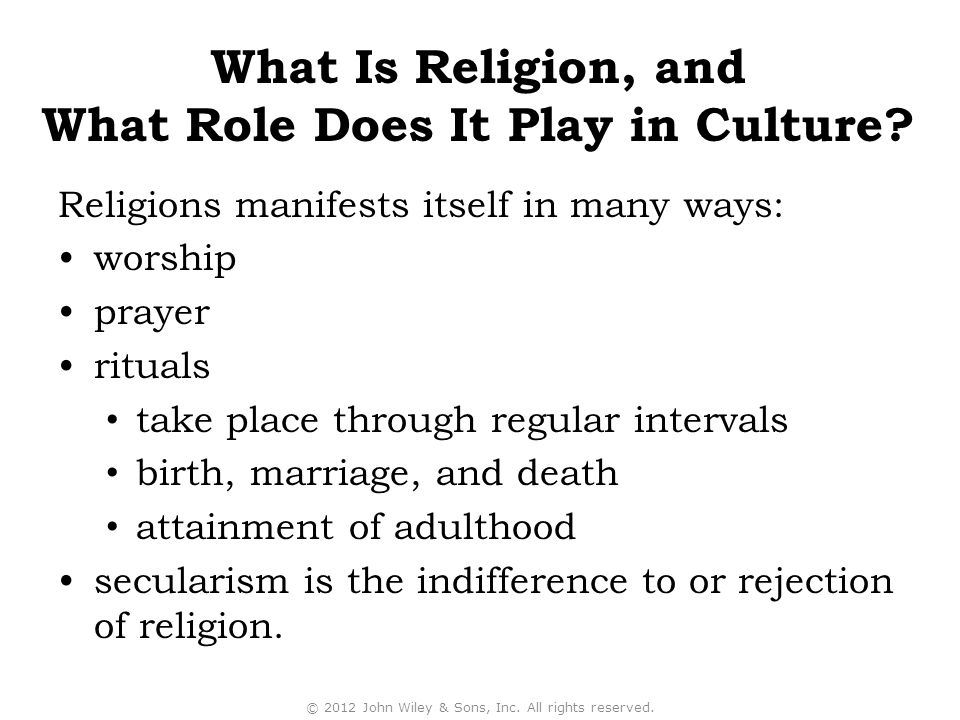 What Role Does It Play in Culture