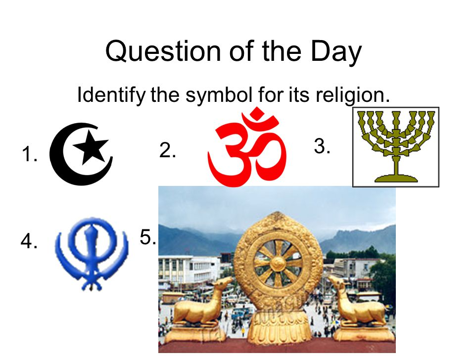 Identify the symbol for its religion.
