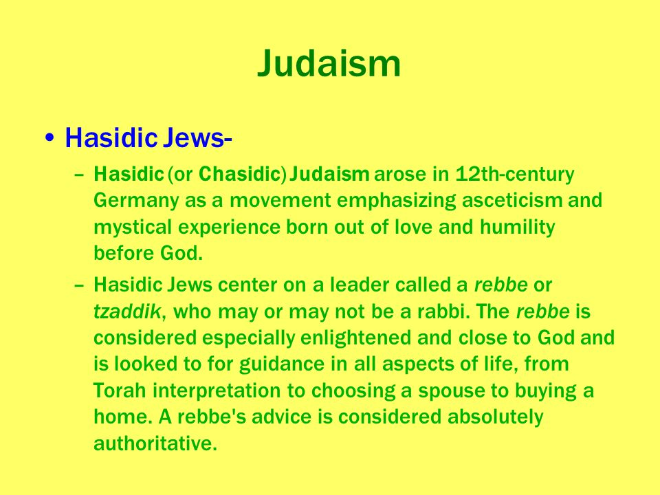Judaism Hasidic Jews-