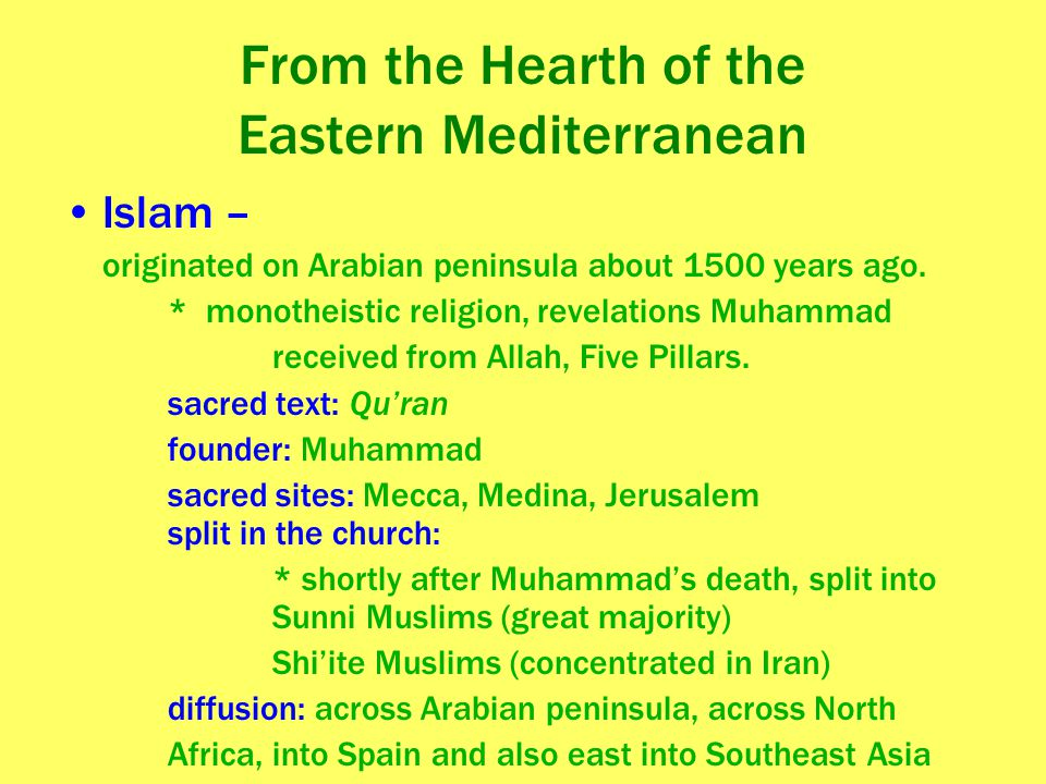 From the Hearth of the Eastern Mediterranean