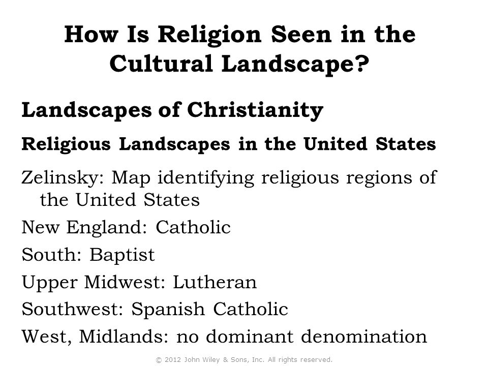 Religious Landscapes in the United States