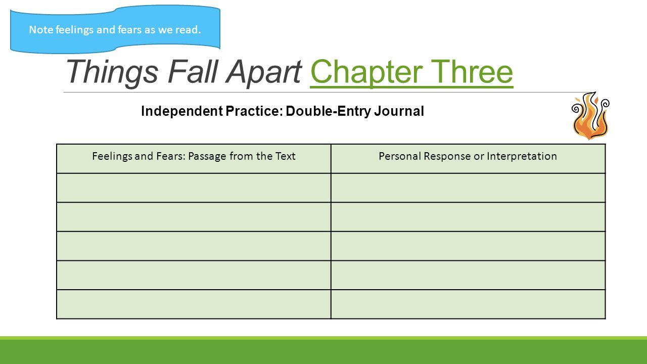 Things Fall Apart Chapter Three