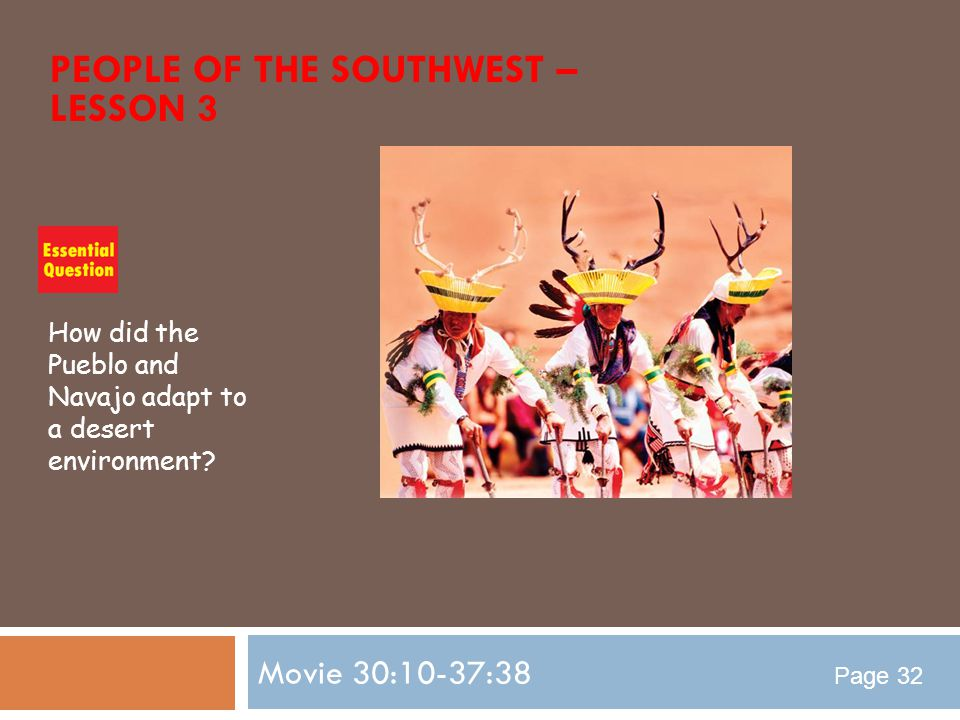 People of the Southwest – Lesson 3