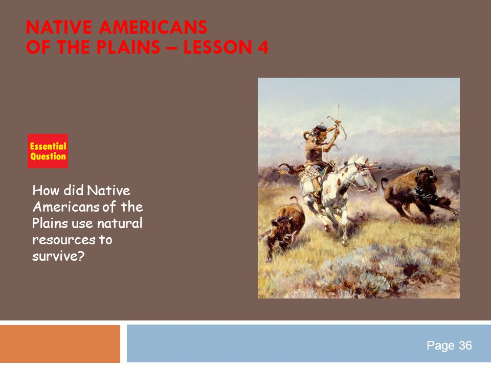Native Americans of the Plains – Lesson 4