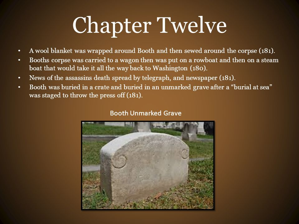 Chapter Twelve Booth Unmarked Grave