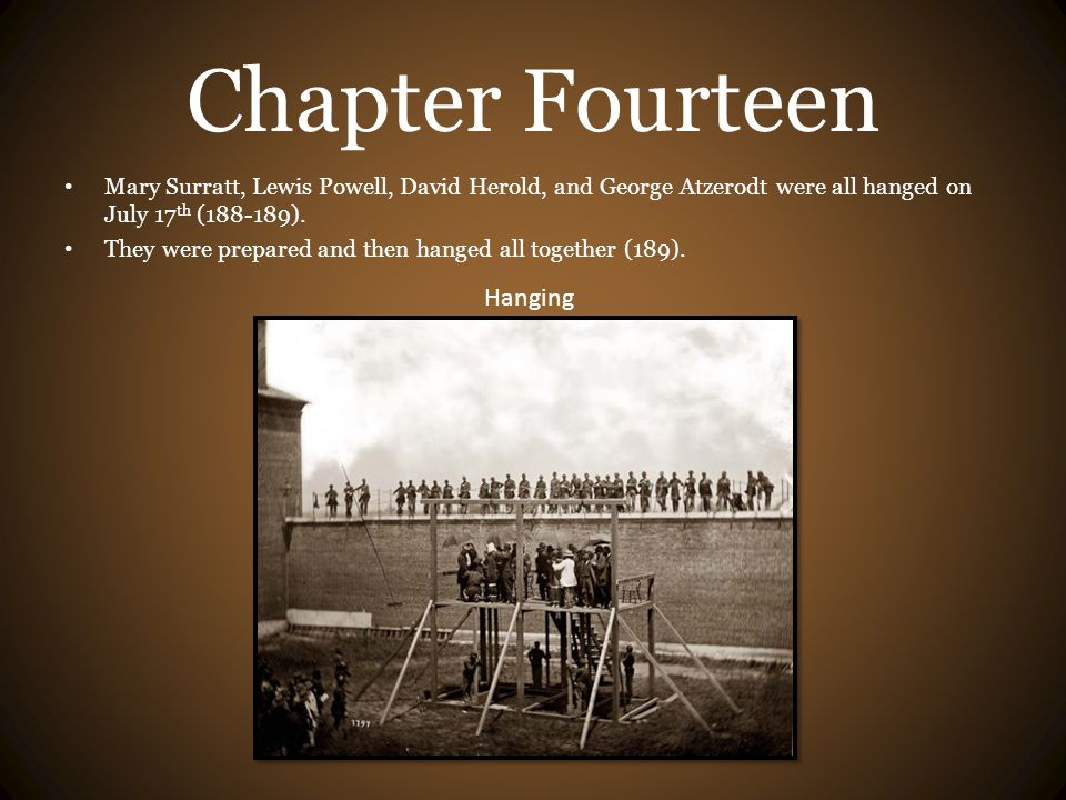 Chapter Fourteen Hanging