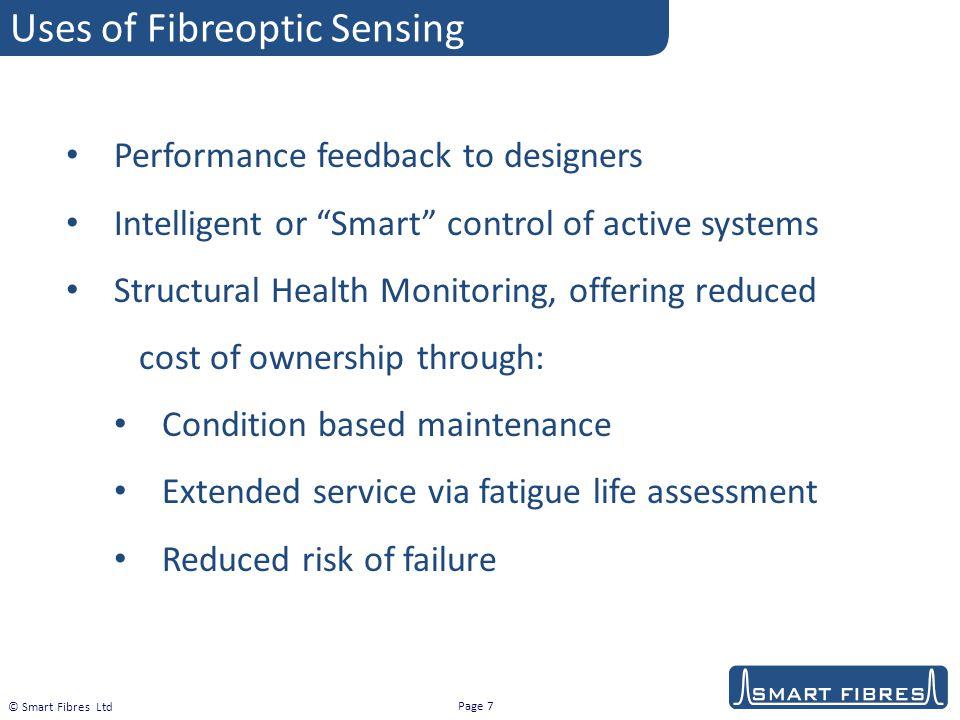 Uses of Fibreoptic Sensing