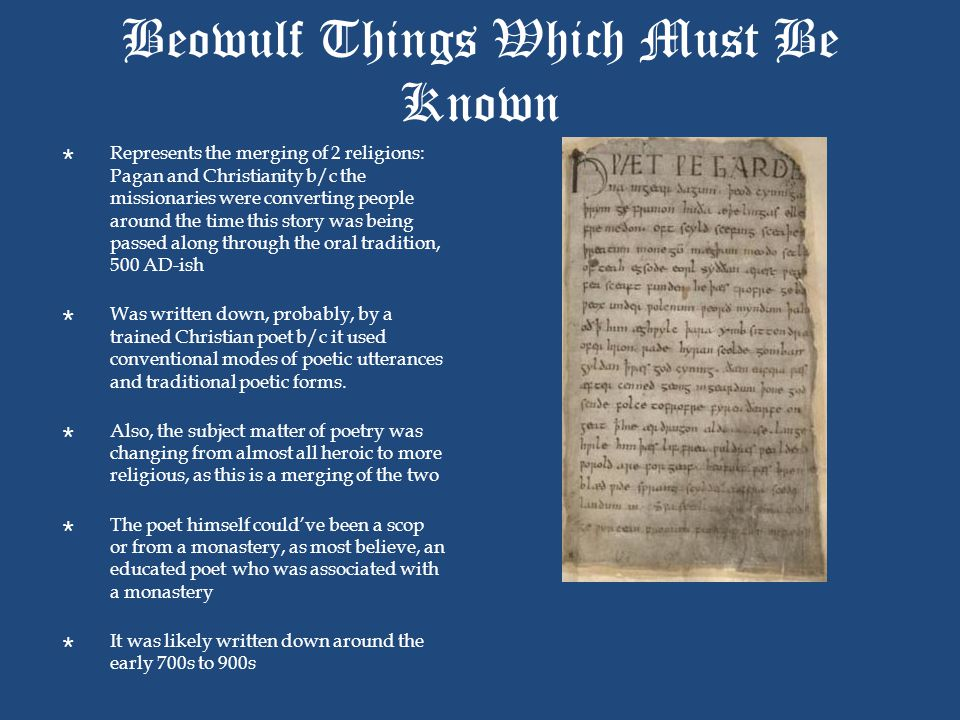 Beowulf Things Which Must Be Known