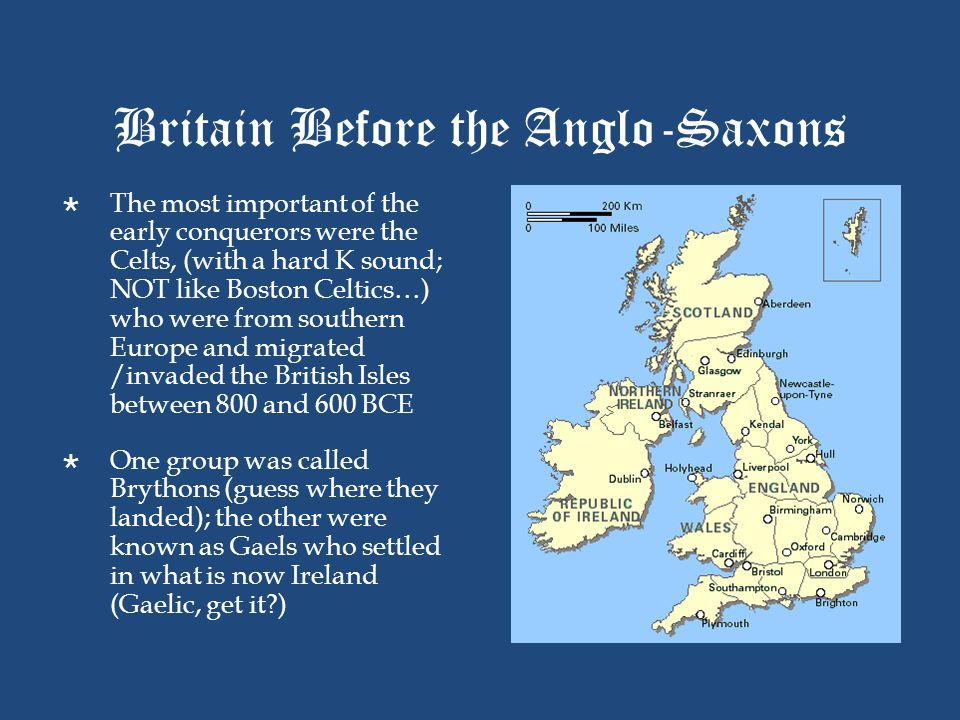 Britain Before the Anglo-Saxons