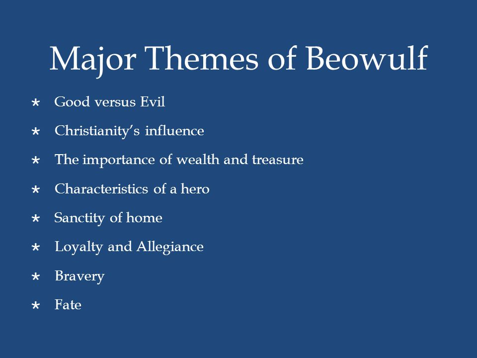 Major Themes of Beowulf