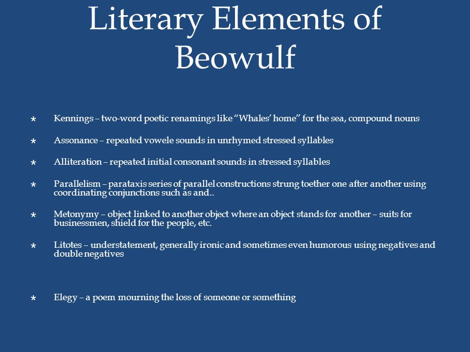 Literary Elements of Beowulf