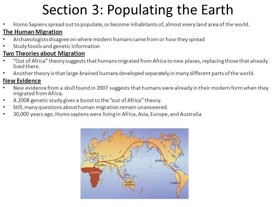 Section 3: Populating the Earth