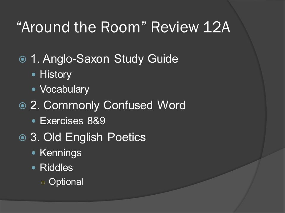 Around the Room Review 12A