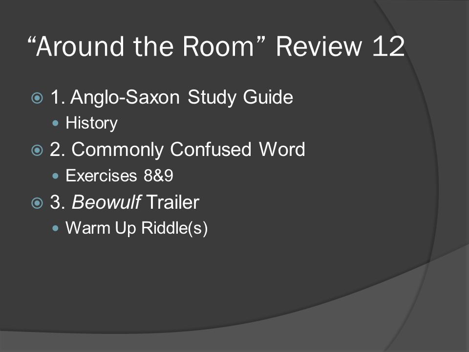 Around the Room Review 12