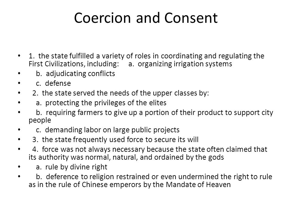 Coercion and Consent