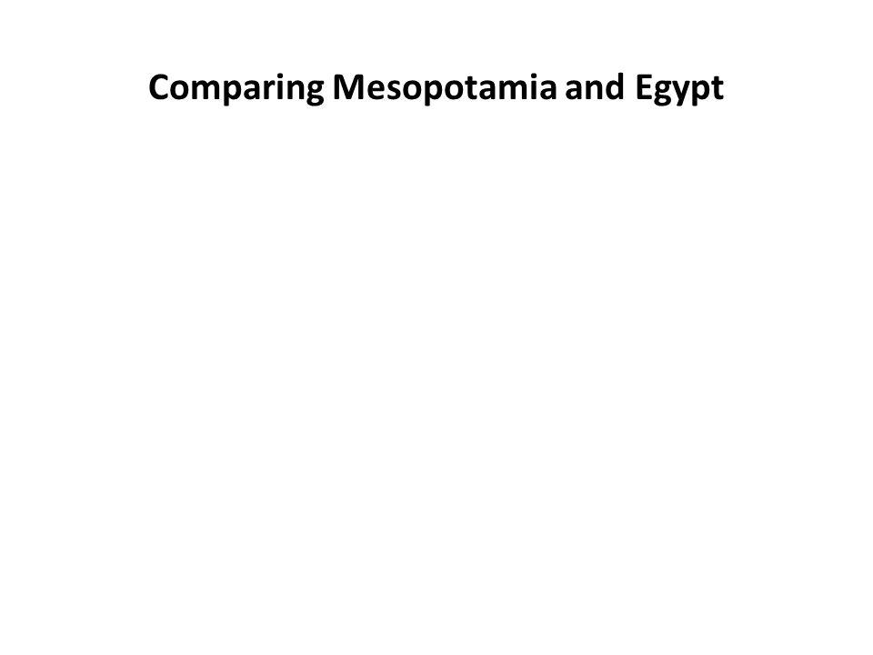 Comparing Mesopotamia and Egypt