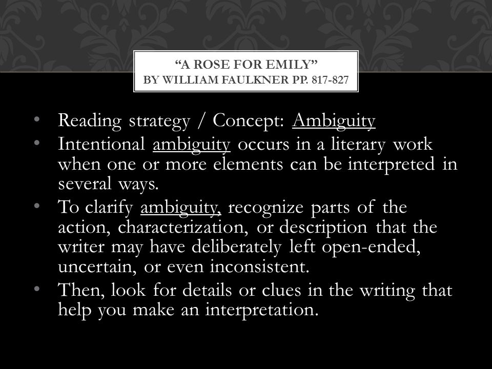 the importance of the minor characters in a rose for emily by william faulkner Everything you ever wanted to know about tobe in a rose for emily a rose for emily by william faulkner home / literature / a rose for emily / characters.