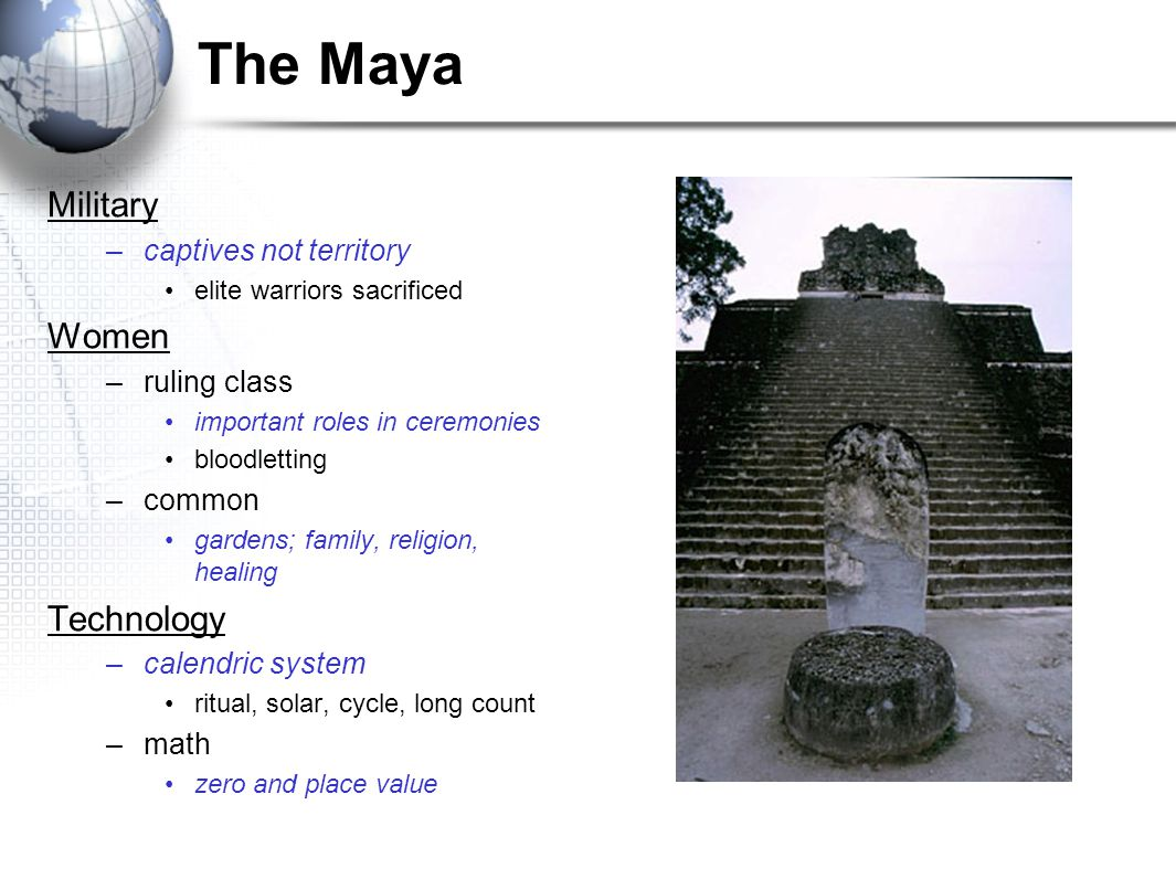 The Maya Military Women Technology captives not territory ruling class