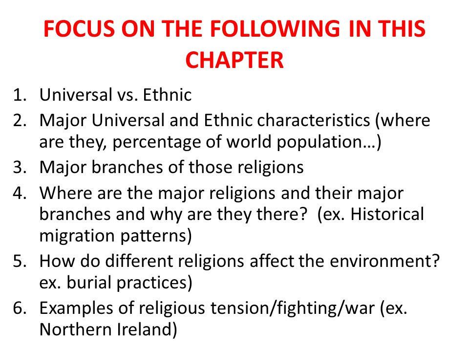 FOCUS ON THE FOLLOWING IN THIS CHAPTER