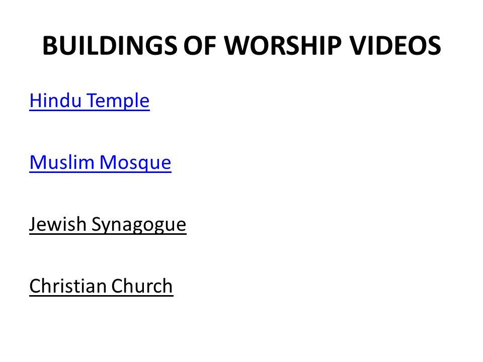 BUILDINGS OF WORSHIP VIDEOS
