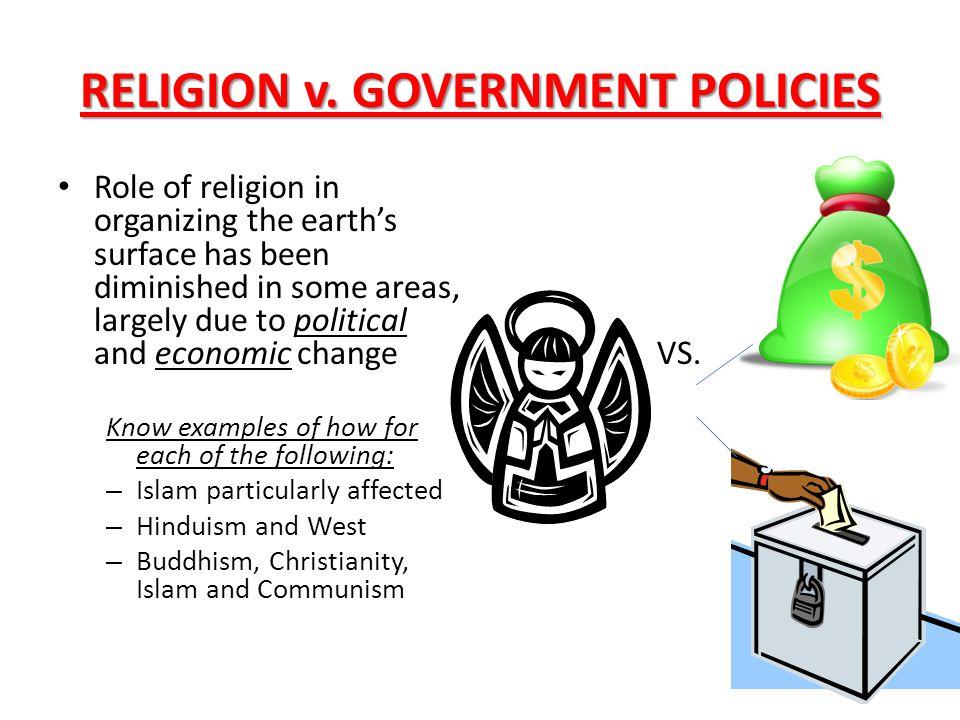 RELIGION v. GOVERNMENT POLICIES