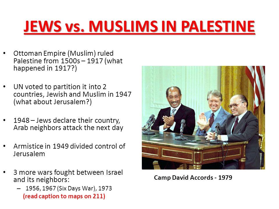 JEWS vs. MUSLIMS IN PALESTINE