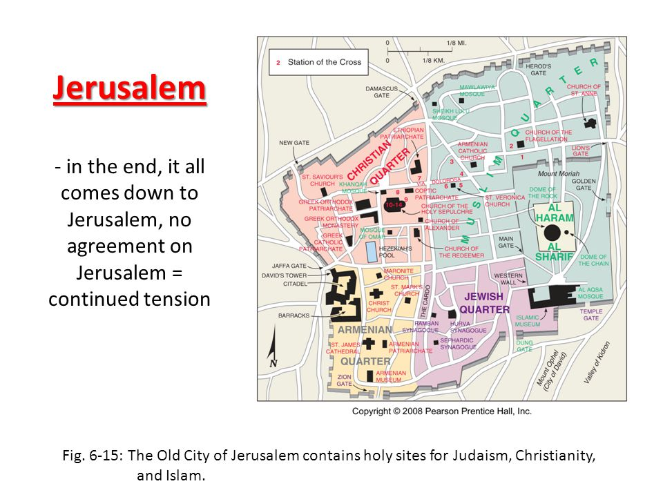 Jerusalem - in the end, it all comes down to Jerusalem, no agreement on Jerusalem = continued tension